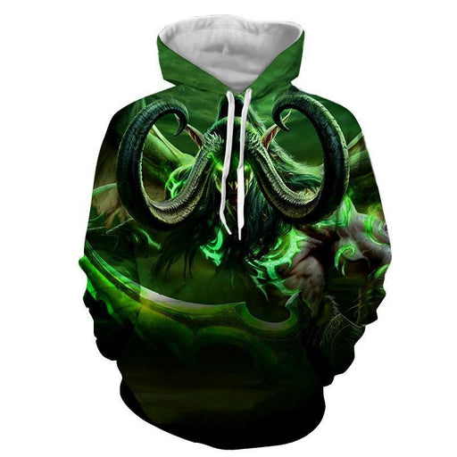 World of Warcraft Illidan Demon Hunter Elf Cool Game Hoodie