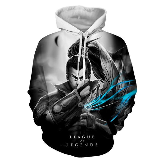 League of Legends Yasuo Swordman Awesome 3D Design Hoodie