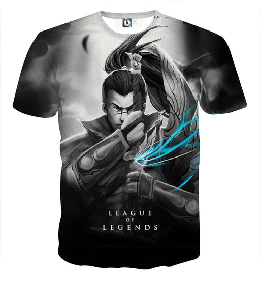 League of Legends Yasuo Swordman Awesome 3D Design T-shirt