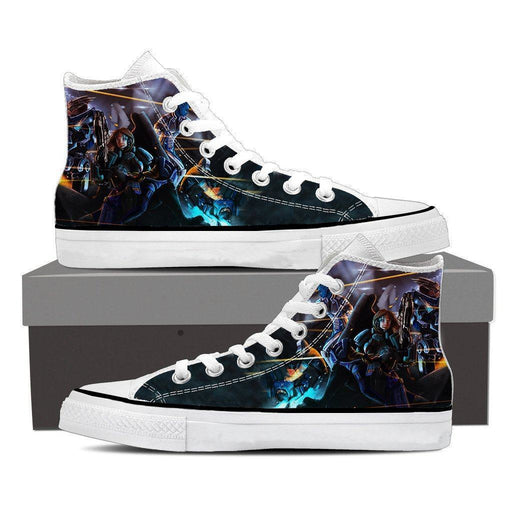 Mass Effect Female Fighter Cartoon Converse Sneaker Shoes