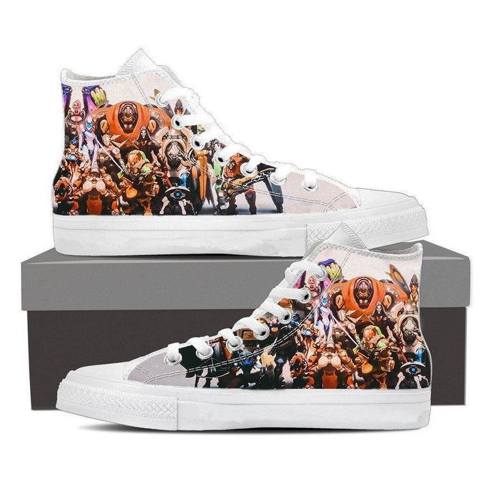 Overwatch All Character Action Comic Sneakers Converse Shoes