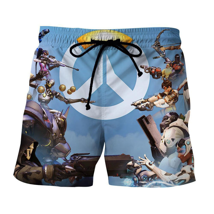 Overwatch Symbol Logo Heroes Fighting Cool Game Theme Shorts