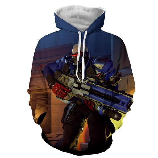 Overwatch Soldier 76 Manhunt Rocket Game Concept Hoodie