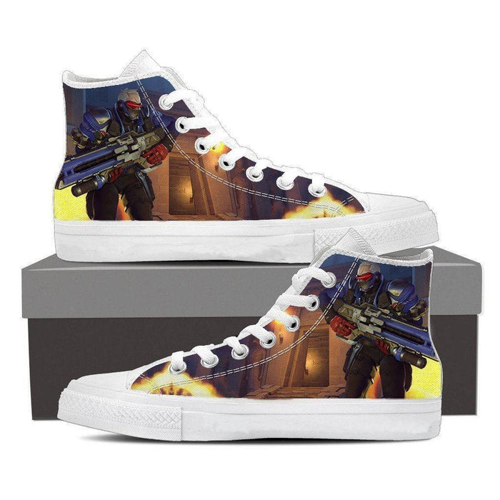 Overwatch Soldier 76 Manhunt Helix Sneakers Converse Shoes