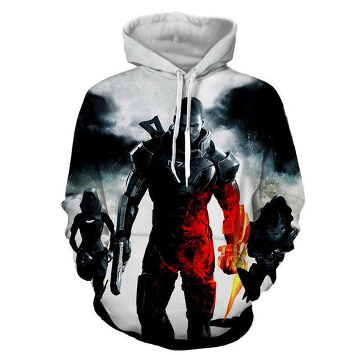 Mass Effect Collab Battlefield Captain Shepard Cool Hoodie