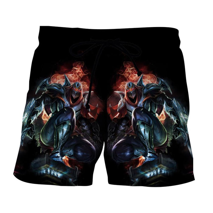League of Legends Zed the Master of Shadow Character Print Shorts