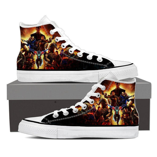 Mass Effect Main Characters Cartoon Converse Sneaker Shoes