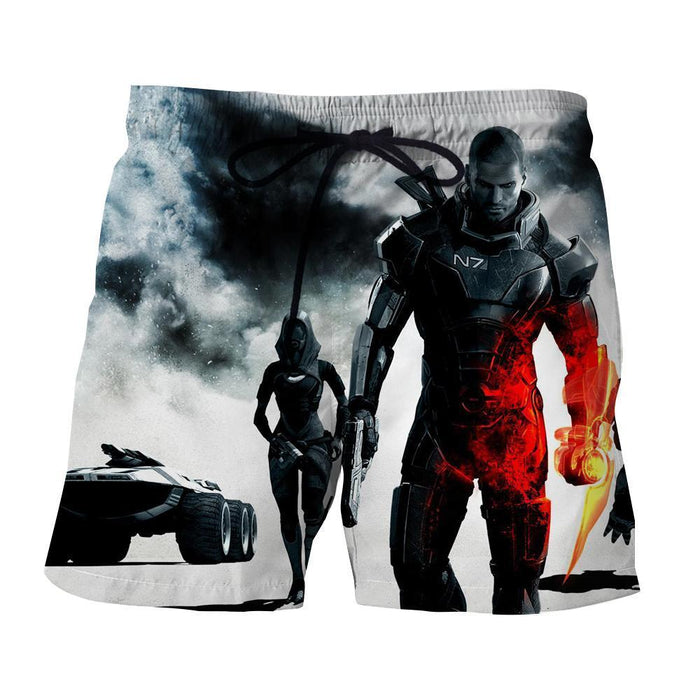 Mass Effect Collab Battlefield Captain Shepard Cool Shorts
