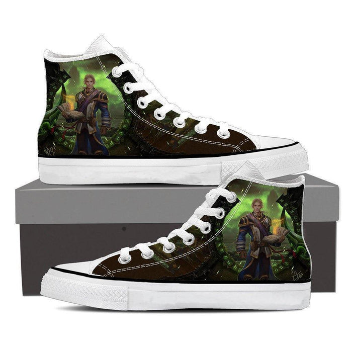 World of Warcraft Mage Character Artwork Cool Game Sneaker Converse Shoes