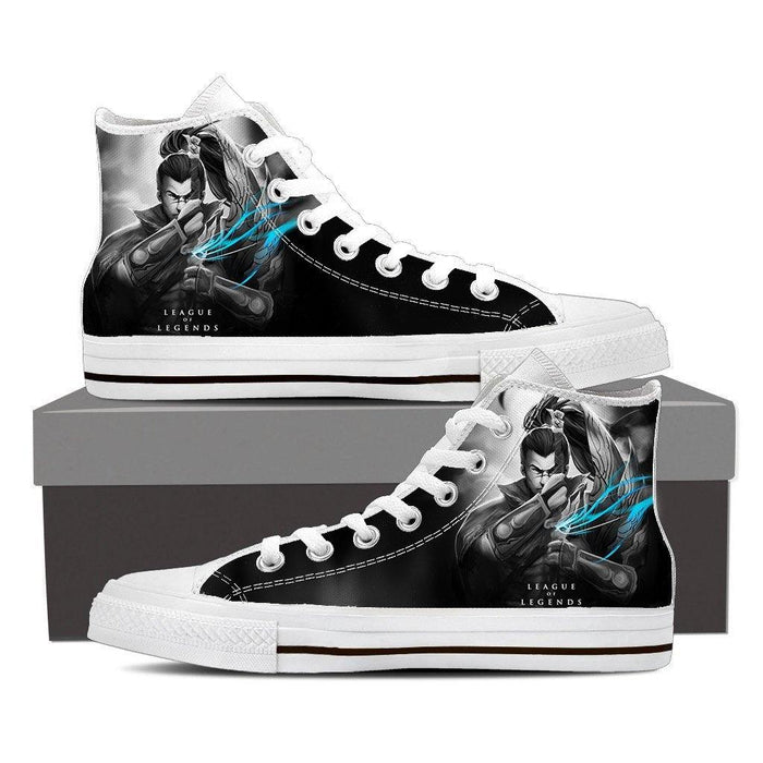 7a4a5fd17bd6 League of Legends Yasuo Awesome Design Printed Sneaker Converse Shoes