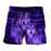 Three Wolves Intimidating Eyes Vibrant Purple Boardshorts