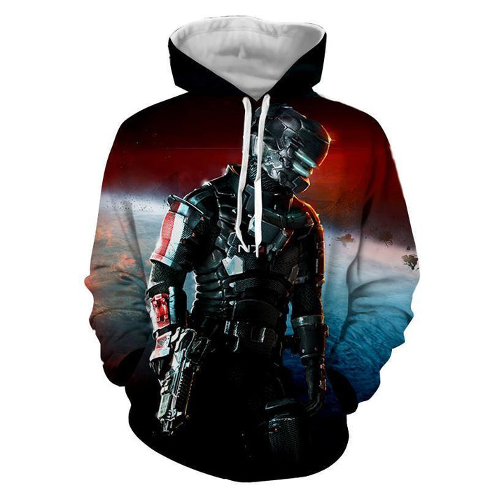 Mass Effect Captain Shepard Full Battle Armor Dope Hoodie