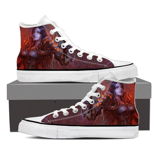Diablo 3 Fan Art Demon Lord Female Version Game Sneaker Converse Shoes - Superheroes Gears