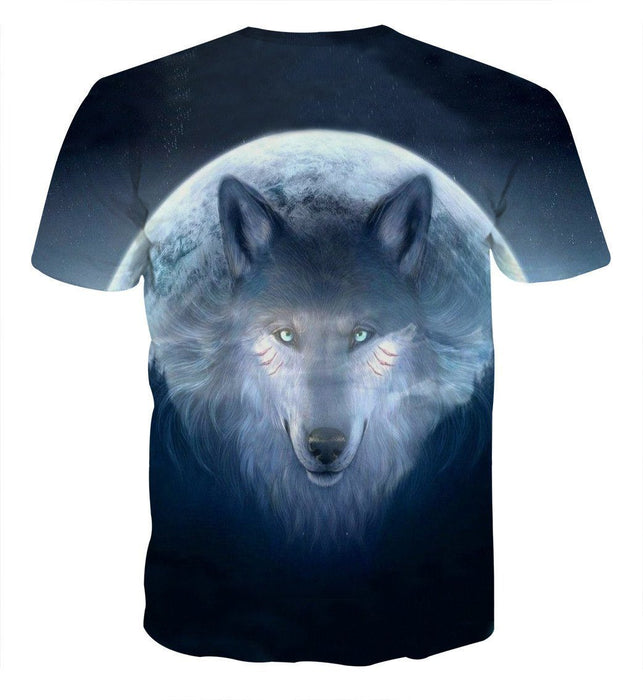 Lunar Wolf Spirit Fantasy Concept Animal Theme T-Shirt