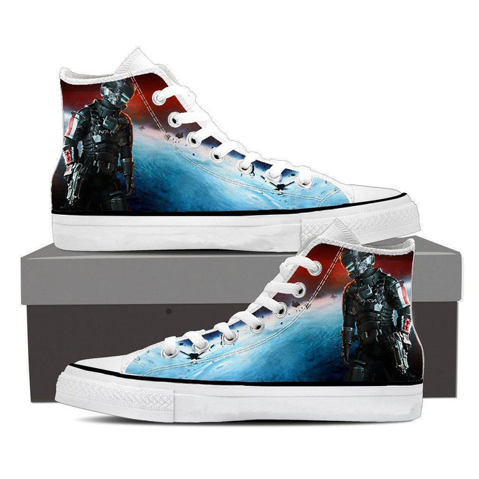 Mass Effect Captain Shepard Full Amor Converse Sneaker Shoes