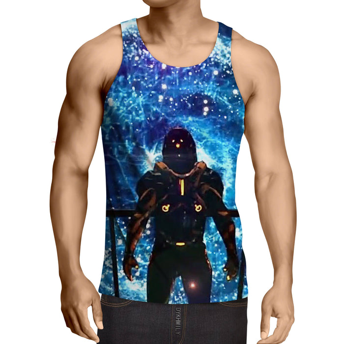 Mass Effect Captain Shepard Space Wormhole Vibrant Tank Top