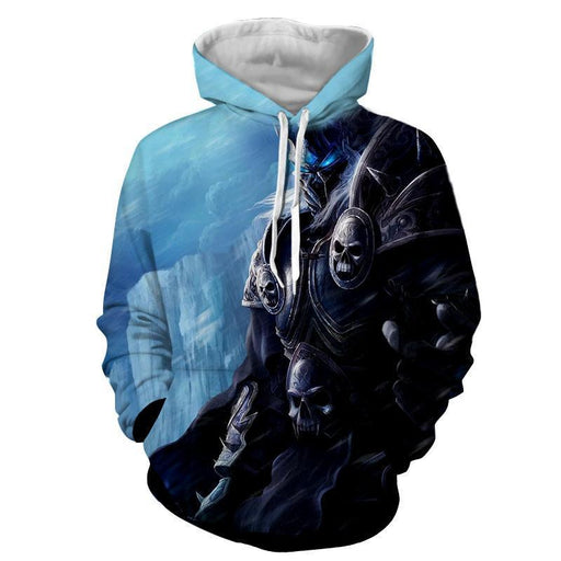 World of Warcraft Arthas Lich King Frozen Throne Hoodie