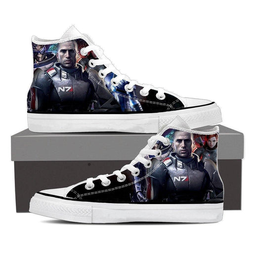 Mass Effect Captain Shepard Portrait Converse Sneaker Shoes