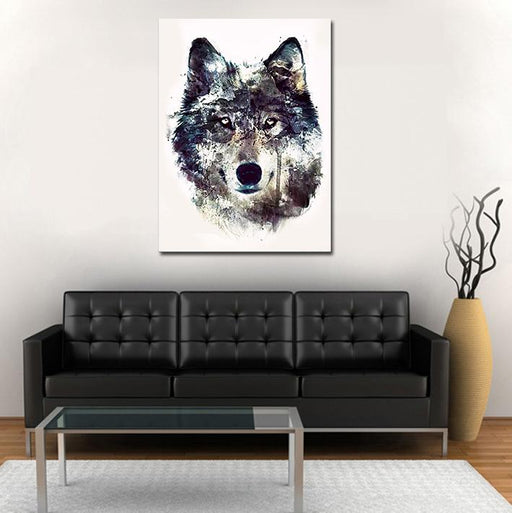 Calm Look Of Wolf Impressive Abstract Style 1PC Canvas Print
