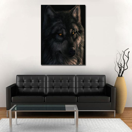 Scary Stare Of A Intimidating  Badass Wolf 1PC Canvas Print