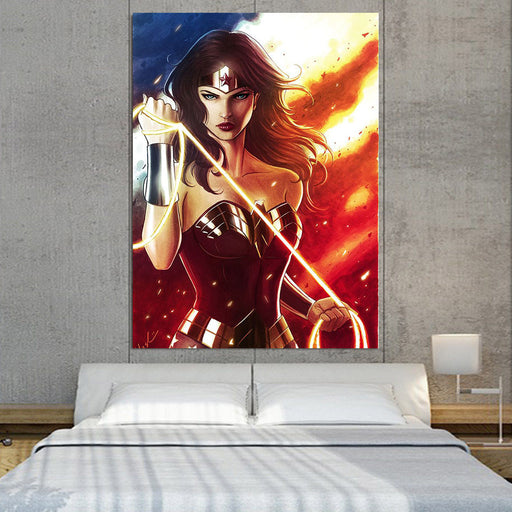 DC Comics Fierce Wonder Woman Golden Lasso Amazing 1pc Canvas