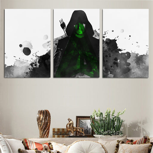 DC Comics Awesome Green Arrow Artwork 3pc Wall Art Canvas Print