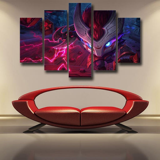 League of Legends Kennen Thundering Shuriken Cool 5pc Wall Art Decor
