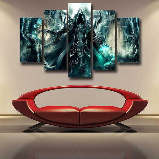 Diablo 3 Reaper of Soul Mathael Death Angel Cool 5pc Wall Art Prints
