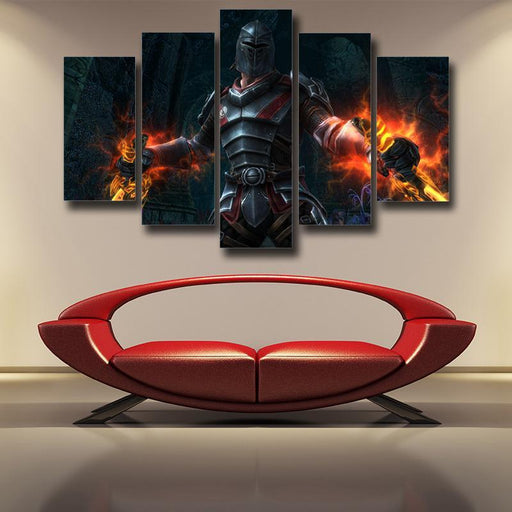 Kingdoms of Amalur Reckoning Medieval Battle Armor 5pc Wall Art Prints - Superheroes Gears