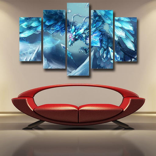 League of Legends Anivia Powerful Cryophoenix Cool 5pc Wall Art Decor - Superheroes Gears
