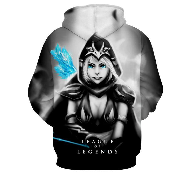 League of Legends Ashe Black Archer Dope 3D Printed Hoodie - Superheroes Gears
