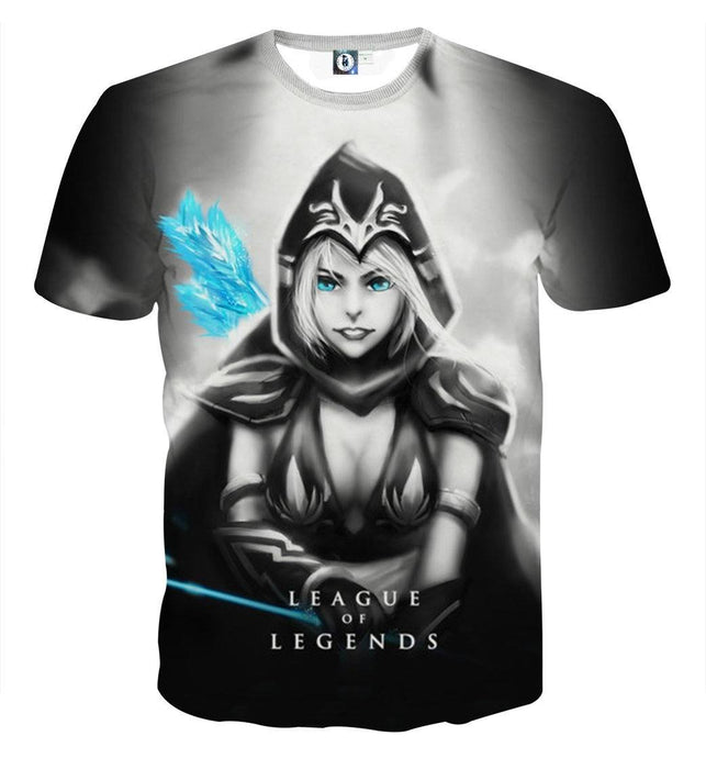 League of Legends Ashe Black Archer Dope 3D Printed T-shirt - Superheroes Gears