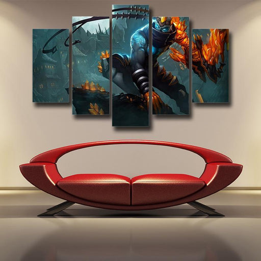 League of Legends Impressive Blight Crystal Varus 5pc Wall Art Decor
