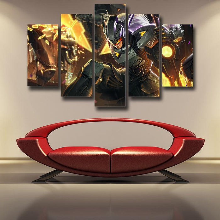 League of Legends Leona Female Warrior Disguise 5pc Canvas Printed