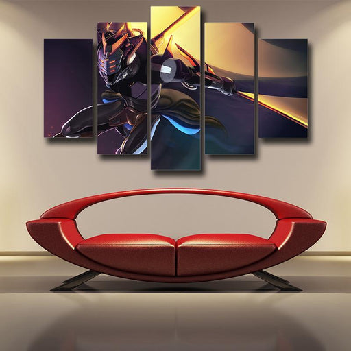 League of Legends Master Yi Expert of Wuju Battling Stylish 5pc Wall Art