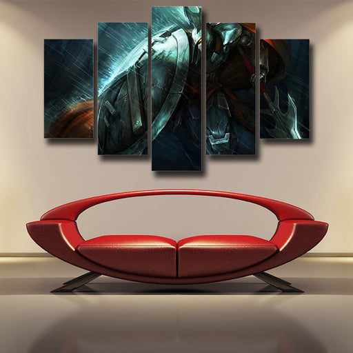 League of Legends Pantheon Striking Strategy Champion 5pc Wall Art