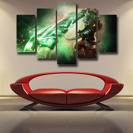League of Legends Riven Dominant Broken Sword Trendy 5pc Wall Art