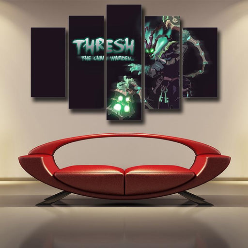 League of Legends Thresh Champion Chain Warden Cool 5pc Wall Art