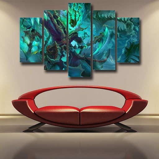 League of Legends Thresh Warrior Champion Classic 5pc Canvas Decor