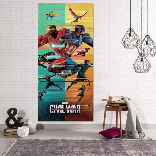Marvel The Avengers Civil War Symmetric Pattern Style 3Pcs Canvas
