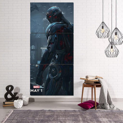 Marvel The Avengers Lonely Ultron Stylish 3pcs Canvas Print