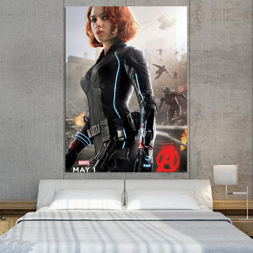 Marvel The Avengers Sexy Black Widow Dope 1pcs Canvas Print