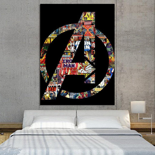 Marvel The Avengers Symbol Iron Man Unique Style 1pc Wall Art