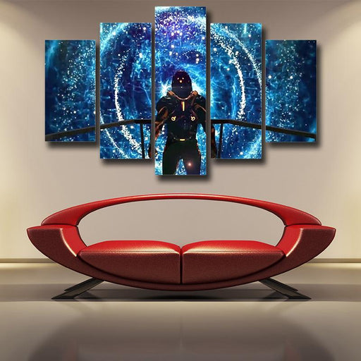 Mass Effect Captain Shepard Space Wormhole Vibrant 5pc Poster Prints