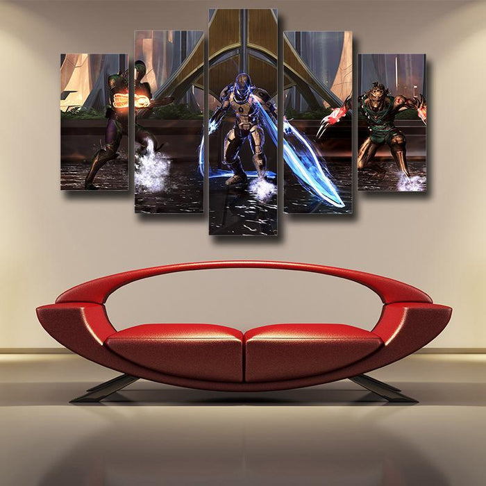 Mass Effect Dragoon Cerberus Unit Lashes Game Style 5pc Wall Art Prints