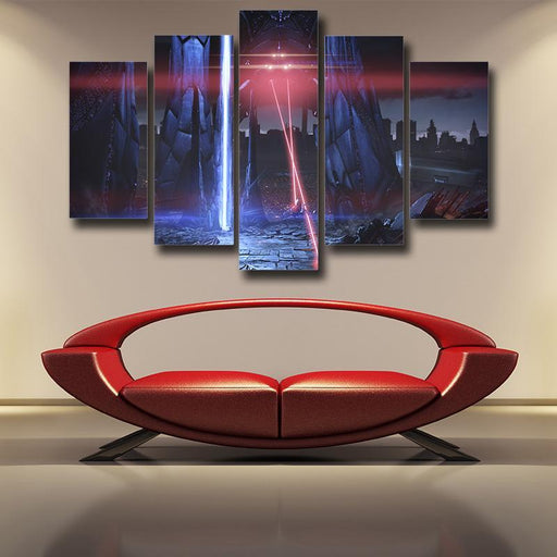 Mass Effect Reaper Laser War Machine Destruction 5pc Wall Art Prints