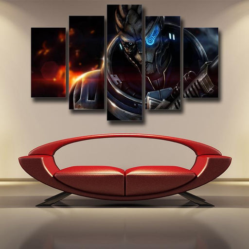 Mass Effect Vetra Nyx Rider Squad Turian Portrait 5pc Canvas Wall Art Prints