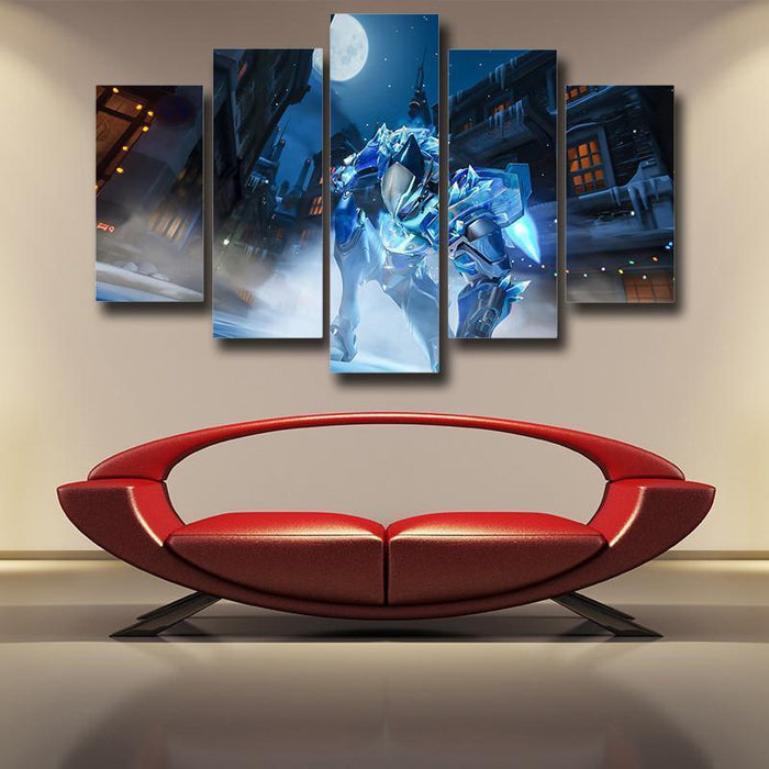 Overwatch Pharah Frostbite 5pc Wall Art Decor Canvas Prints