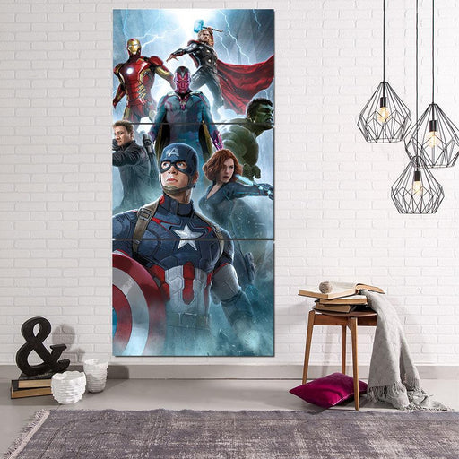 The Avengers Age of Ultron Main Characters 3Pcs Wall Art