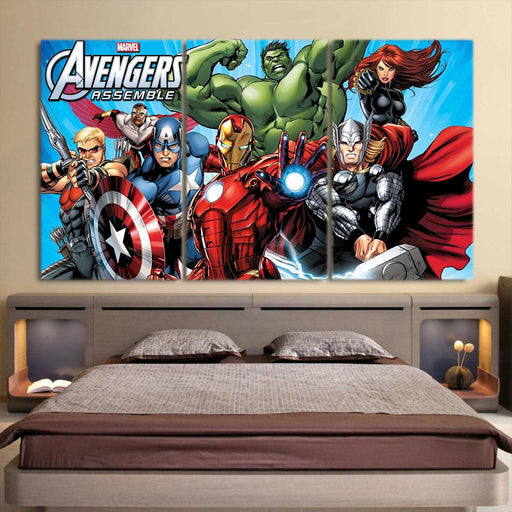 The Avengers Comic Style Superheroes Cool 3Pcs Wall Art